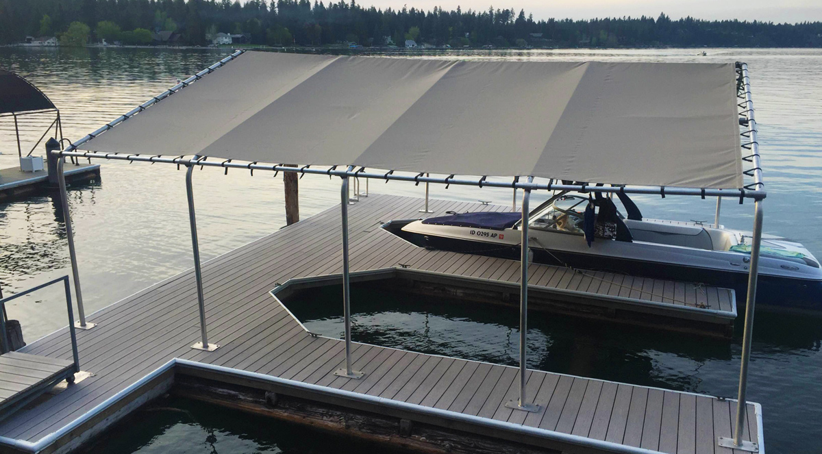 Rush-Co Marine Products | Custom Covers for Boat Lift Canopies